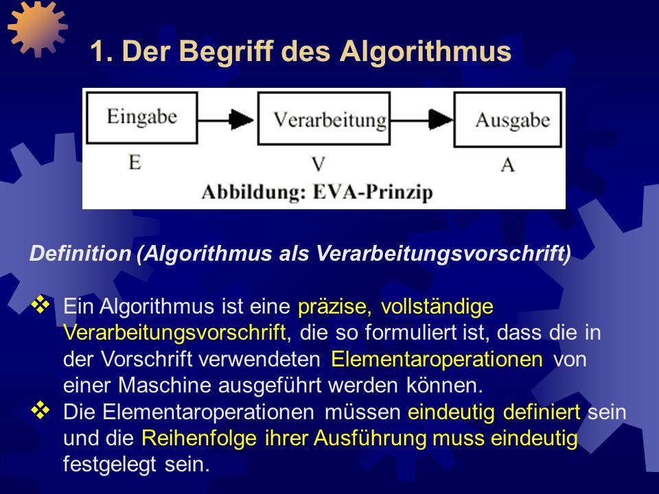 1. Der Begriff des Algorithmus
