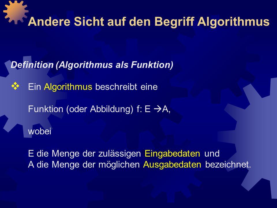 Andere Sicht auf den Begriff Algorithmus