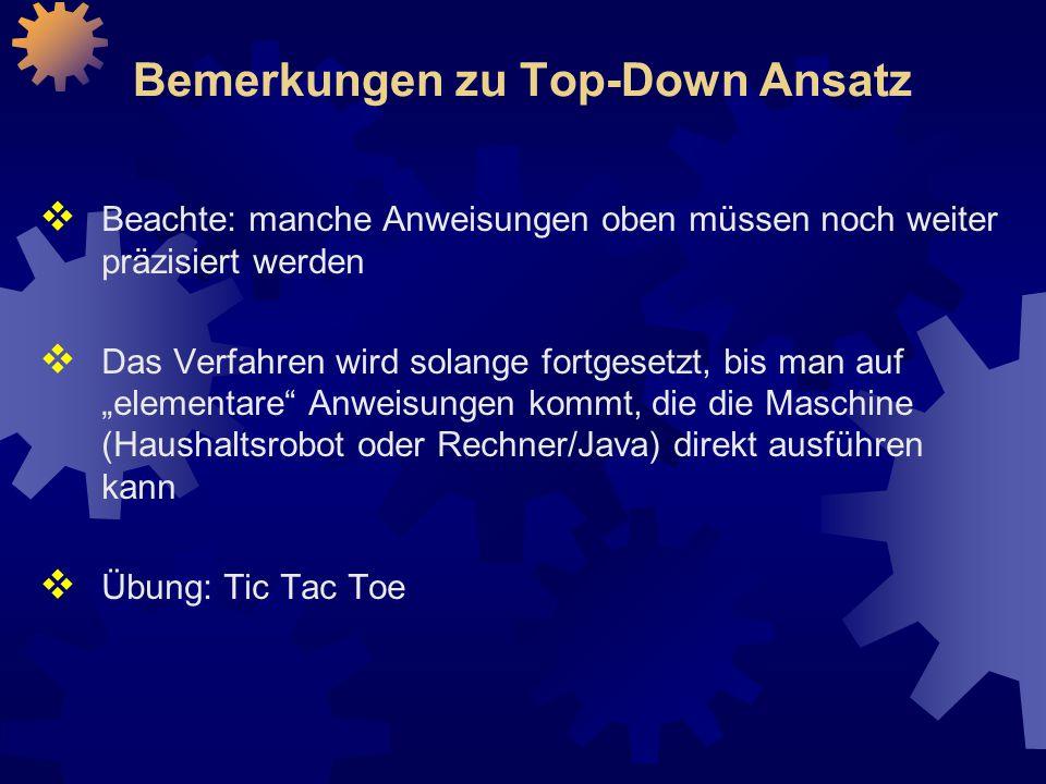 Bemerkungen zu Top-Down Ansatz