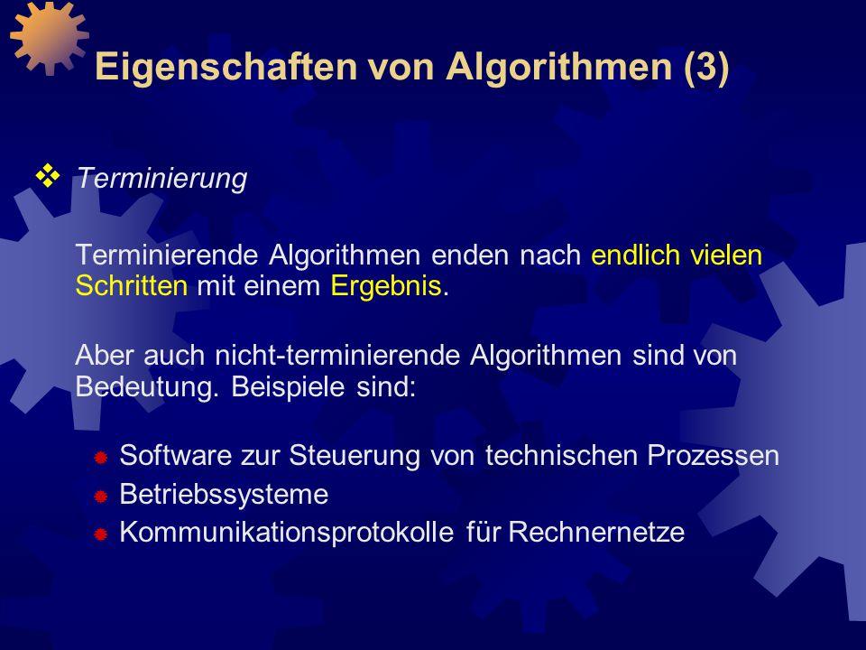 Eigenschaften von Algorithmen (3)