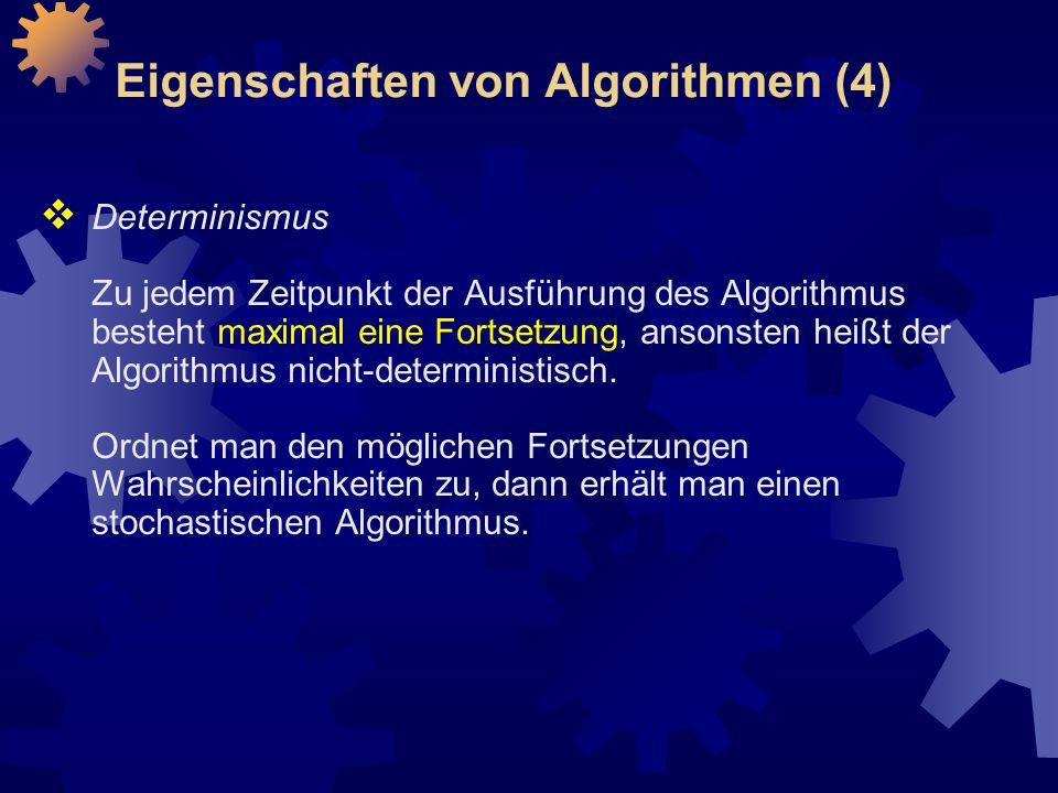 Eigenschaften von Algorithmen (4)