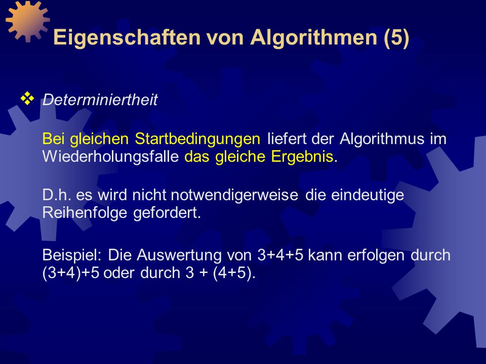 Eigenschaften von Algorithmen (5)