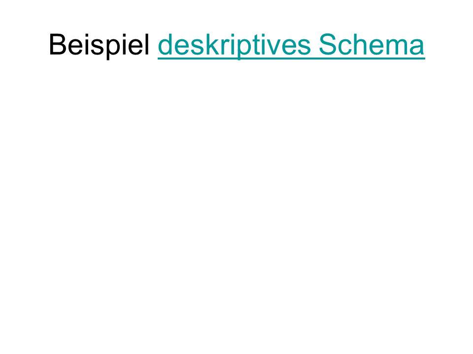 Beispiel deskriptives Schema