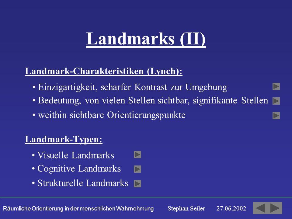 Landmarks (II) Landmark-Charakteristiken (Lynch):