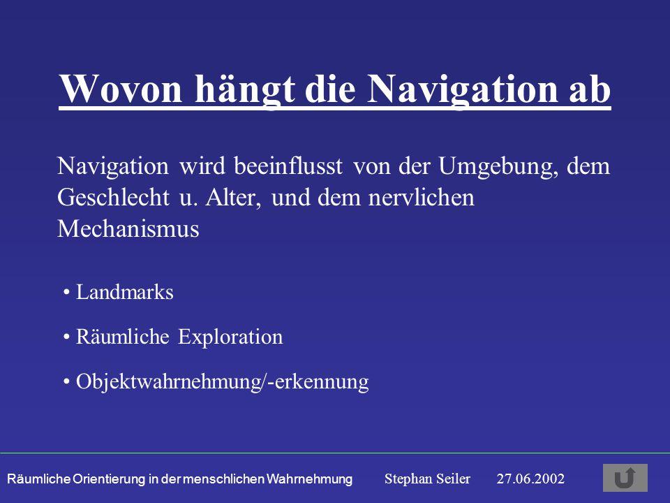 Wovon hängt die Navigation ab