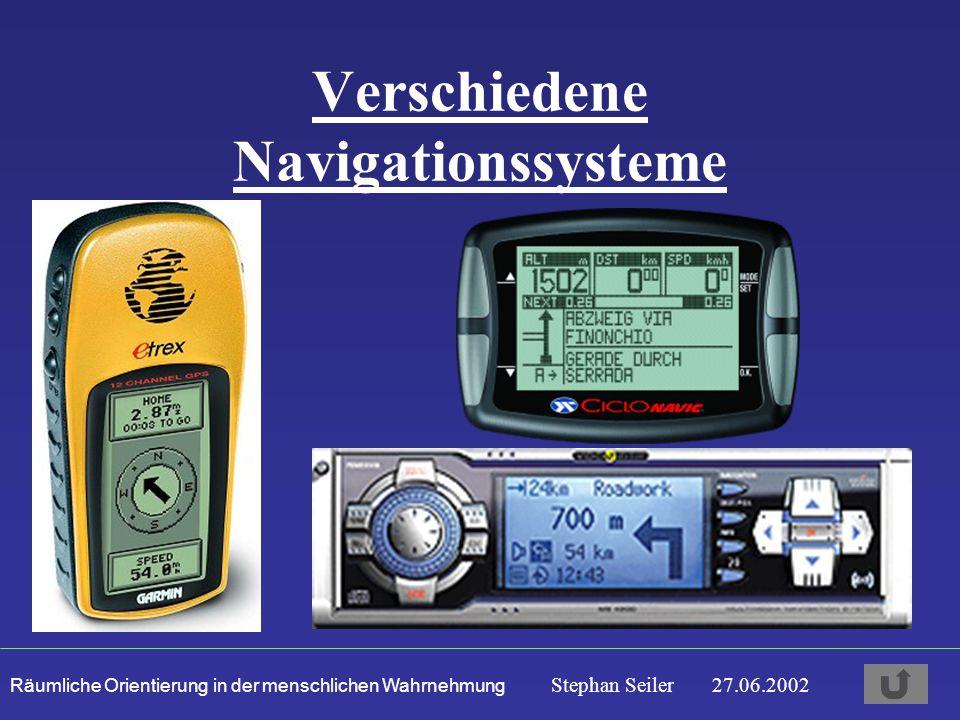 Verschiedene Navigationssysteme