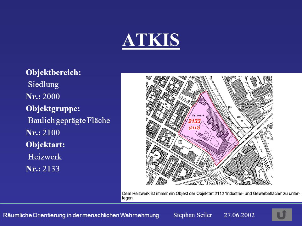 ATKIS Objektbereich: Siedlung Nr.: 2000 Objektgruppe: