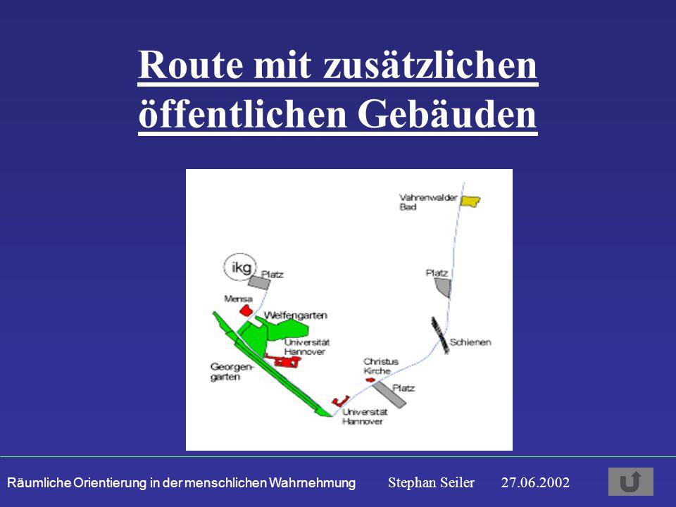 Route mit zusätzlichen öffentlichen Gebäuden