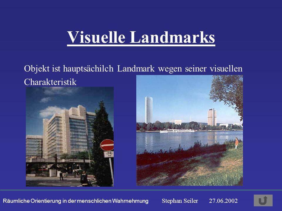 Visuelle Landmarks Objekt ist hauptsächilch Landmark wegen seiner visuellen Charakteristik