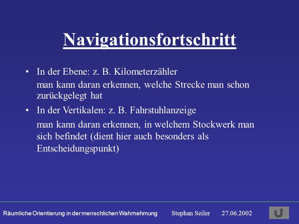 Navigationsfortschritt