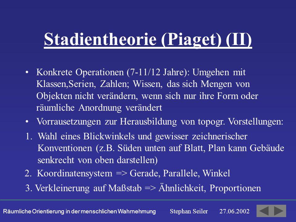 Stadientheorie (Piaget) (II)