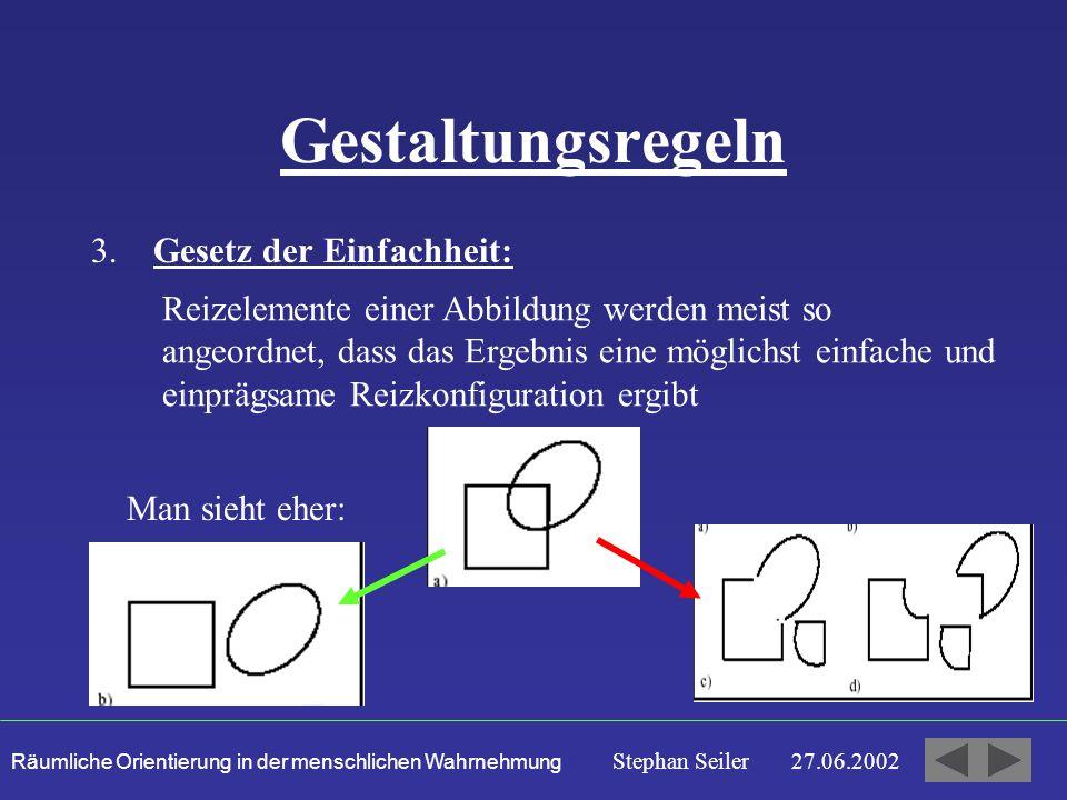 Gestaltungsregeln 3. Gesetz der Einfachheit:
