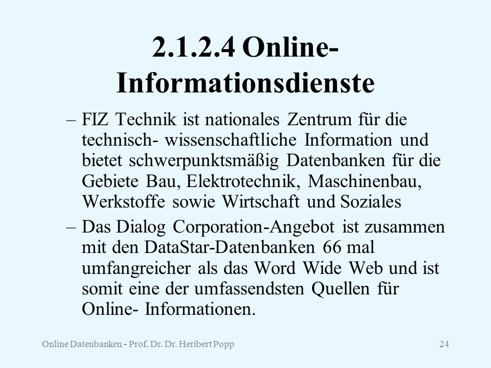 Online-Informationsdienste