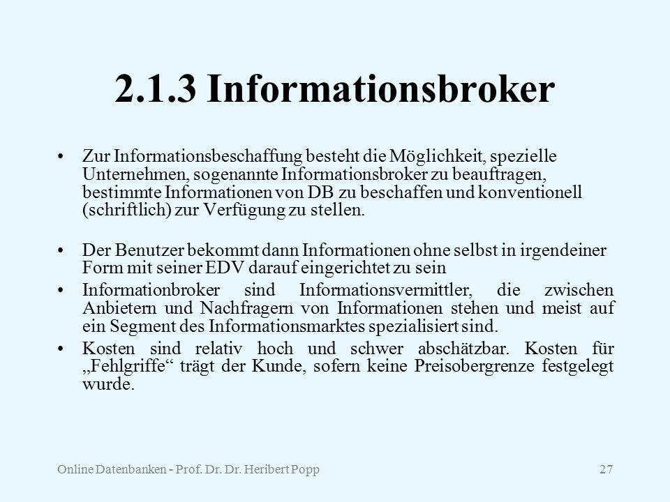 2.1.3 Informationsbroker