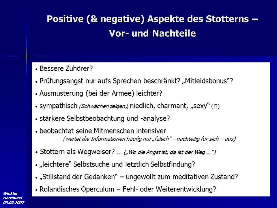 Positive (& negative) Aspekte des Stotterns – Vor- und Nachteile
