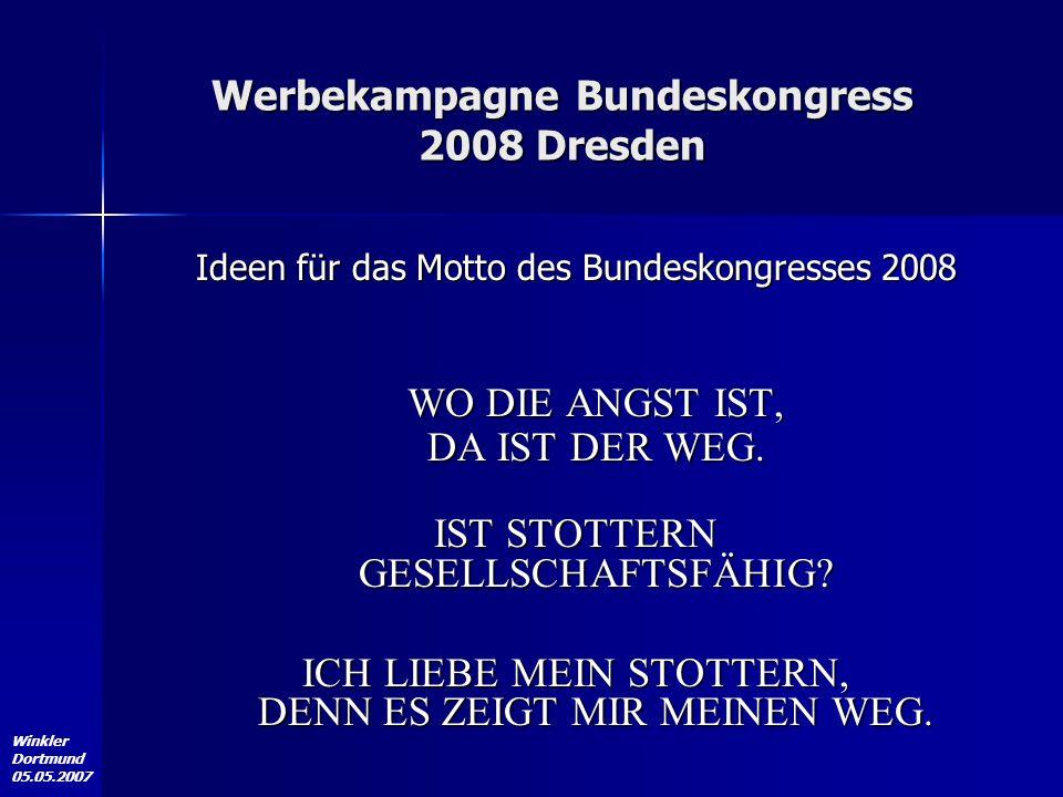 Werbekampagne Bundeskongress 2008 Dresden