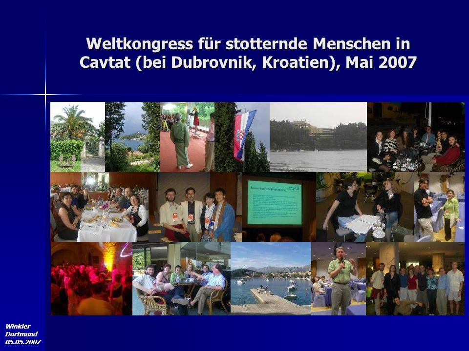 Weltkongress für stotternde Menschen in Cavtat (bei Dubrovnik, Kroatien), Mai 2007