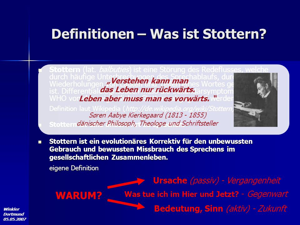 Definitionen – Was ist Stottern