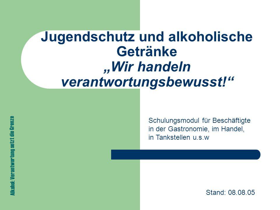 Alkohol: Verantwortung setzt die Grenze