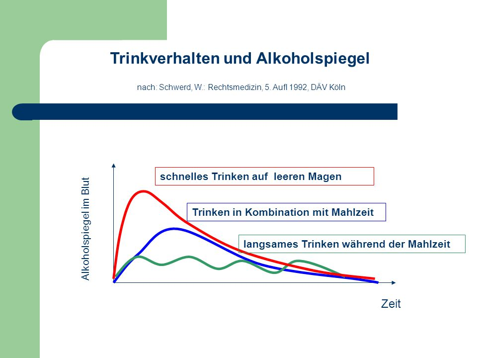 Trinkverhalten und Alkoholspiegel