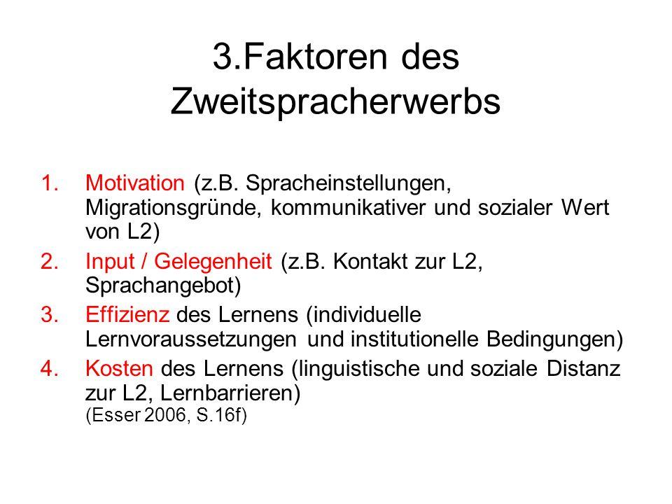 3.Faktoren des Zweitspracherwerbs