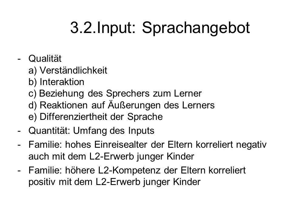 3.2.Input: Sprachangebot