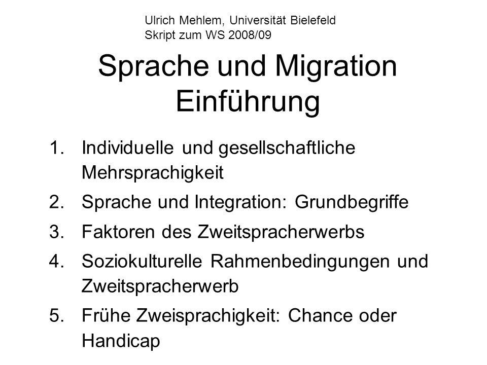 Sprache und Migration Einführung