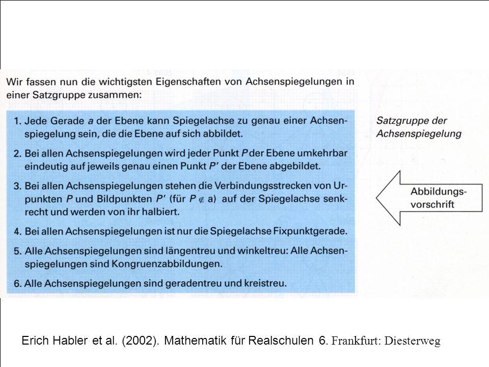 Erich Habler et al. (2002). Mathematik für Realschulen 6