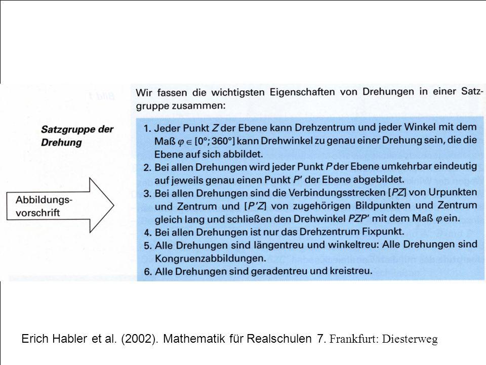 Erich Habler et al. (2002). Mathematik für Realschulen 7