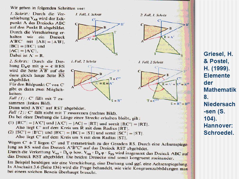 Griesel, H. & Postel, H. (1999). Elemente der Mathematik 8