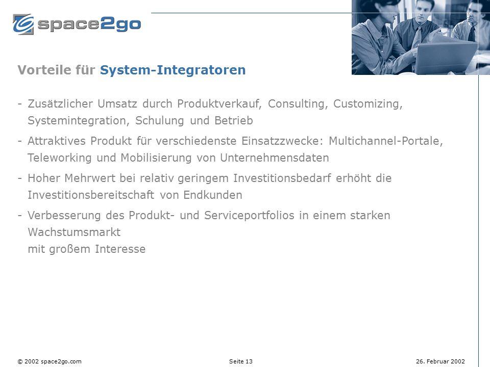 Vorteile für System-Integratoren
