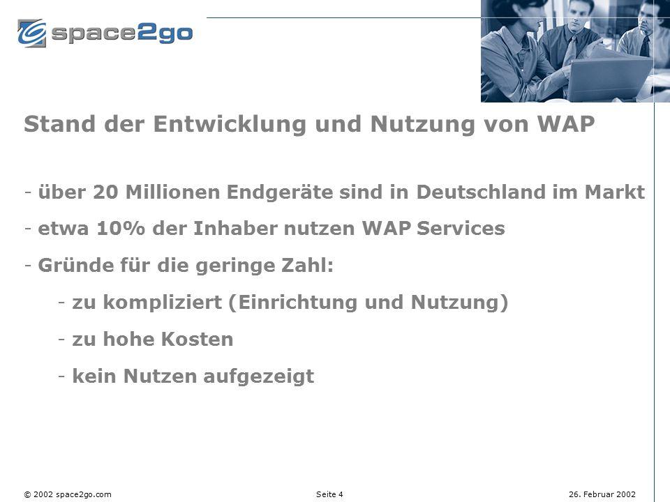 Stand der Entwicklung und Nutzung von WAP