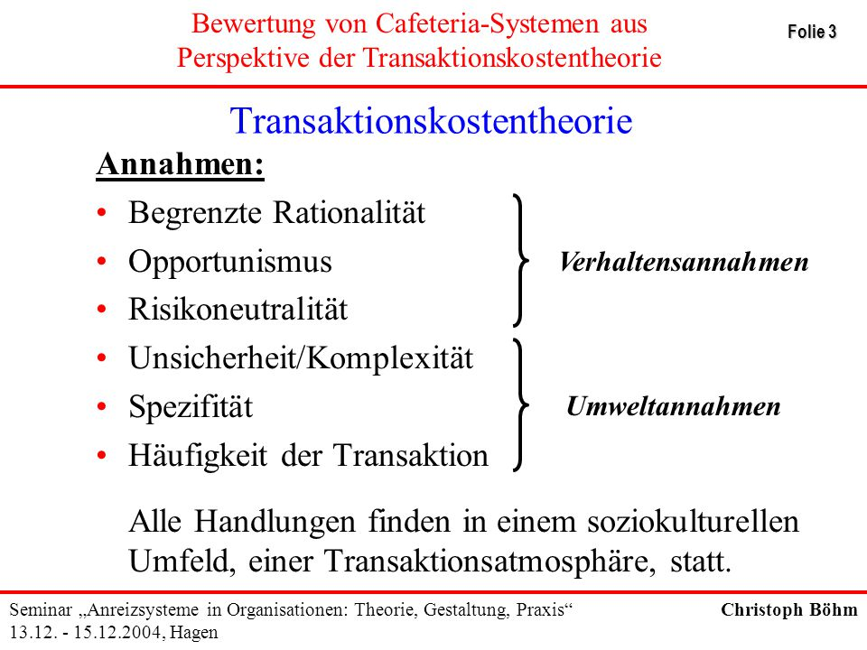 Transaktionskostentheorie