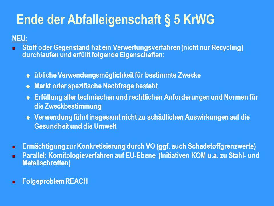 Ende der Abfalleigenschaft § 5 KrWG