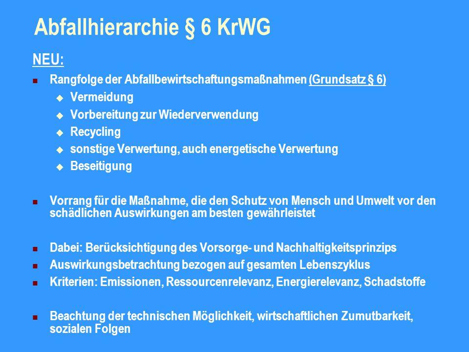 Abfallhierarchie § 6 KrWG