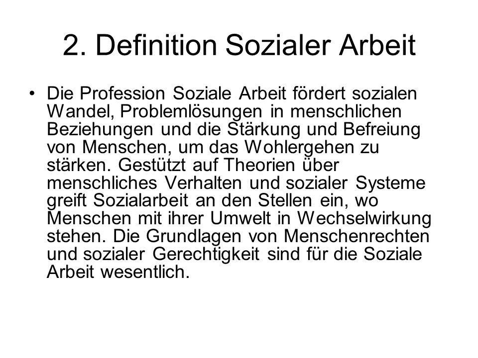 2. Definition Sozialer Arbeit