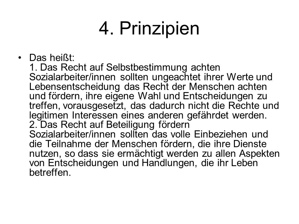 4. Prinzipien