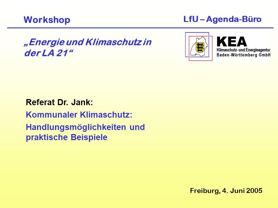 """Workshop """"Energie und Klimaschutz in der LA 21"""