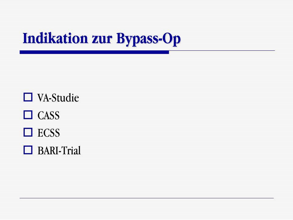 Indikation zur Bypass-Op