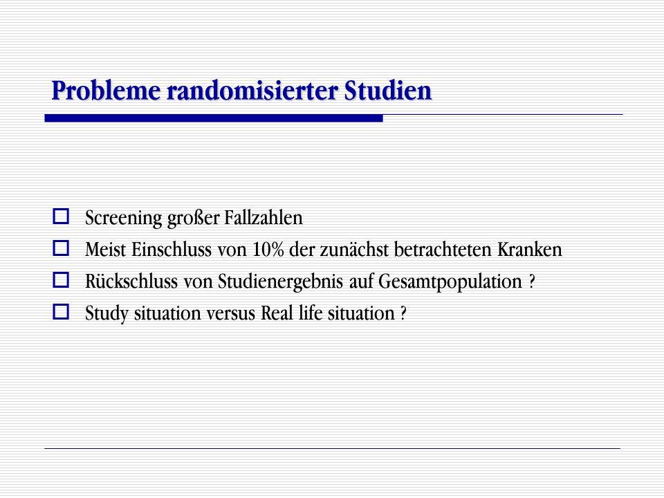 Probleme randomisierter Studien