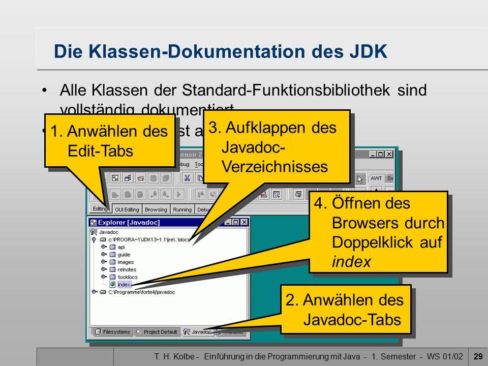 Die Klassen-Dokumentation des JDK