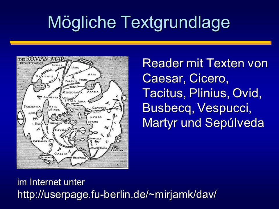Mögliche Textgrundlage