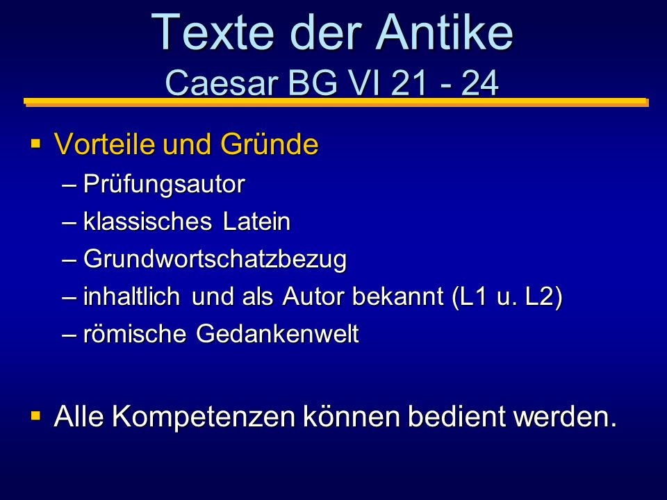 Texte der Antike Caesar BG VI 21 - 24