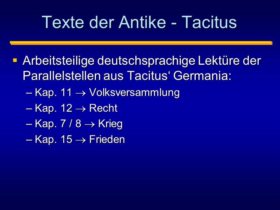 Texte der Antike - Tacitus
