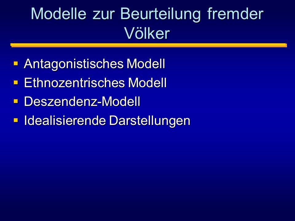 Modelle zur Beurteilung fremder Völker