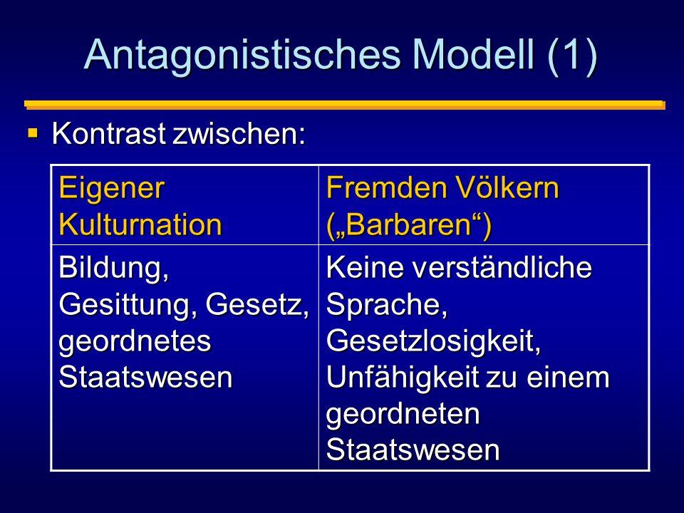 Antagonistisches Modell (1)