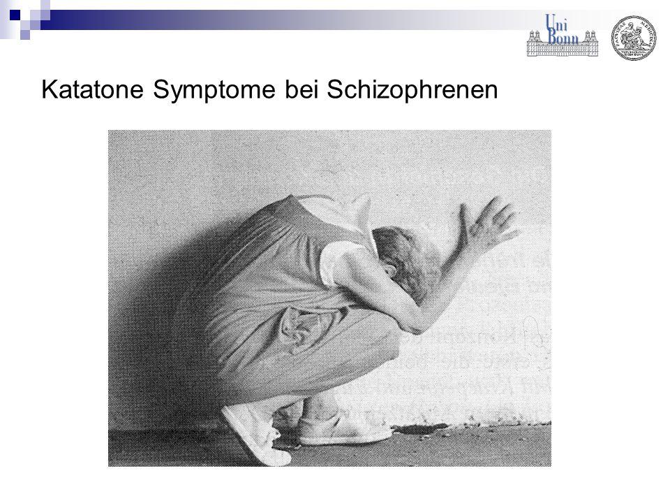 Katatone Symptome bei Schizophrenen