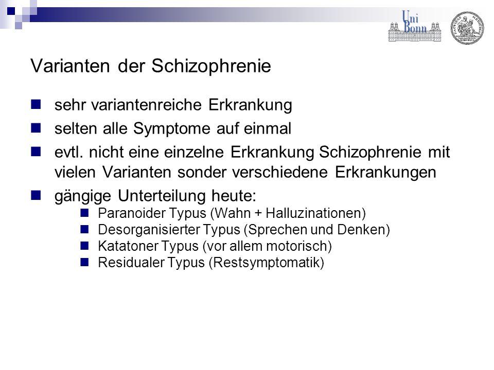 Varianten der Schizophrenie