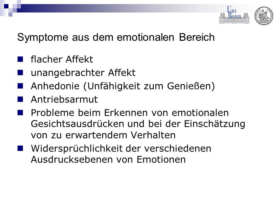 Symptome aus dem emotionalen Bereich