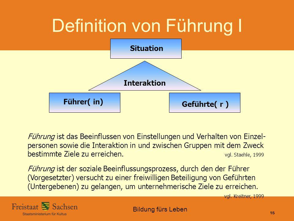 Definition von Führung I